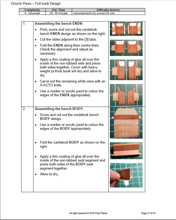 Page 27 Church Pew Assembly instructions