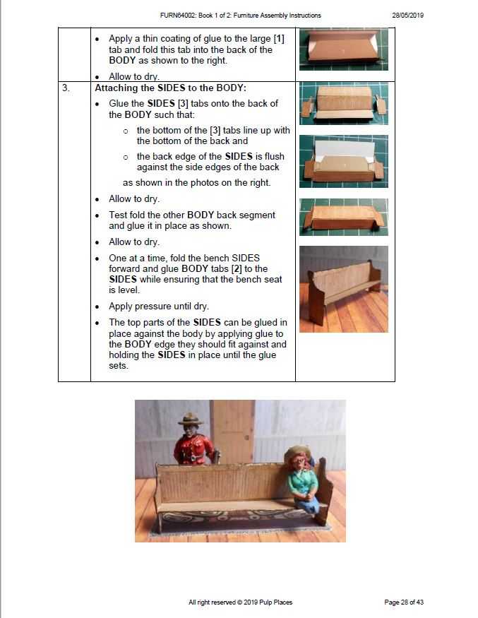 Page 28 Church Pew Assembly instructions